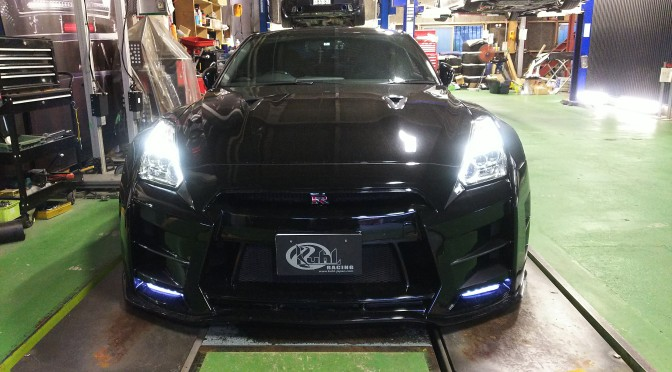 35GT-R ワイド テール交換 KUHL RACING 名古屋 作業