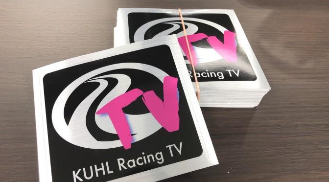 KUHL YouTube10万人登録記念ステッカーが届きました!