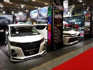 今日から3日間大阪オートメッセ2016開催です!! 30アルファ-ド 30ヴェルファイア 35GTR NDロードスター カスタムカー 展示
